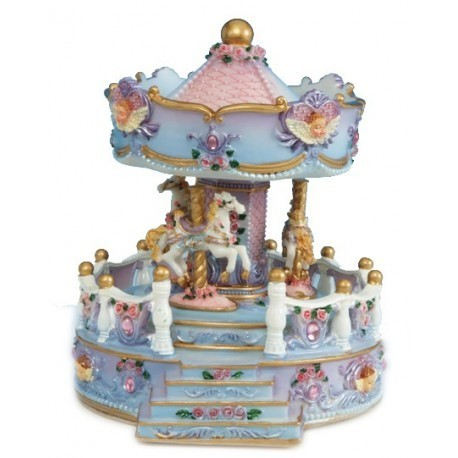 2-angel-bust-carousel-with-porch-made-of-poly-stone-14146
